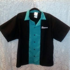 1950's Style King Pins Bowling Button Up Shirt